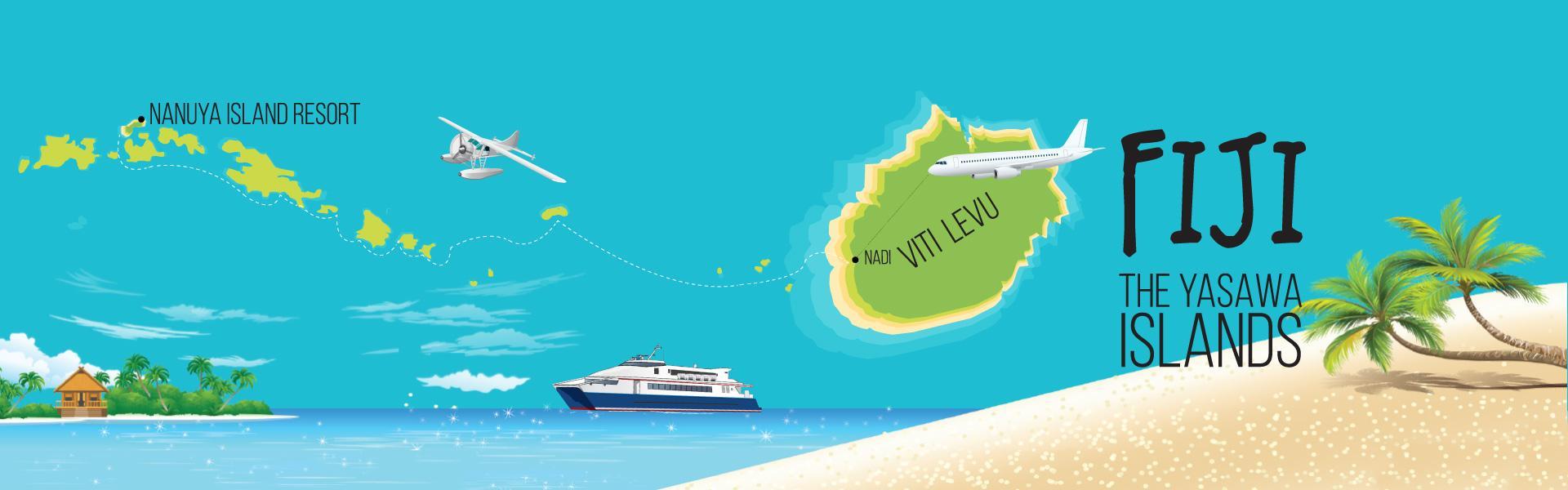 Nanuya Island Resort Location - Yasawa Islands